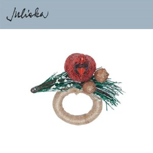 [해외][Juliska] 줄리스카 Cardinal Napkin Ring Ruby (4pcs)