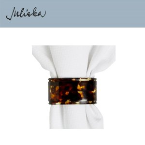 [해외][Juliska] 줄리스카 Oval Tortoise Napkin Ring (4pcs)