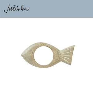 [해외][Juliska] 줄리스카 Wooden Fish Greywash Napkin Ring(4pcs)