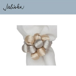 [해외][Juliska] 줄리스카 Metallic Bead Bouquet Napkin Ring (4pcs)