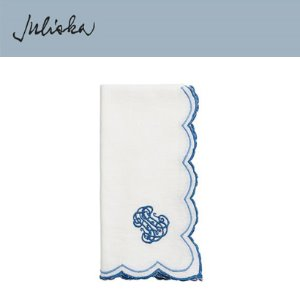 [해외][Juliska] 줄리스카 Heirloom Napkin Whitewash/Delft Blue (4pc)