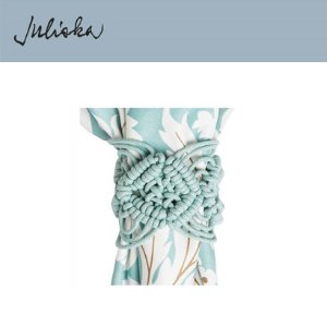 [해외][Juliska] 줄리스카 Macrame Napkin Ring Ice Blue (4pc)