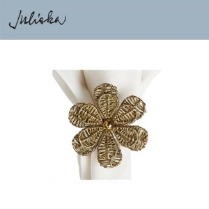[해외][Juliska] 줄리스카 Brass Camellia Napkin Ring (4pc)