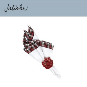 [해외][Juliska] 줄리스카 Plaid Pique Napkin Red/White (4pc)