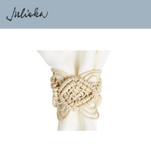 [해외][Juliska] 줄리스카 Natural Macrame Napkin Ring (4pc)