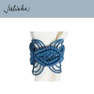 [해외][Juliska] 줄리스카 Macrame Napkin Ring Delft Blue (4pc)