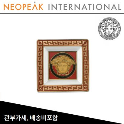 [해외][Versace] 베르사체 Medusa Red Porcelain Tray (3¼inch / 8.2cm)