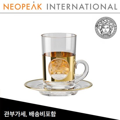 [해외][Versace] 베르사체 Medusa Madness Oro Tall Tea glass (2pc)