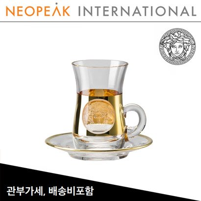 [해외][Versace] 베르사체 Medusa Madness Oro Tea glass (2pc)