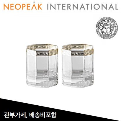 [해외][Versace] 베르사체 Medusa D-Or D.O.F. Whiskey Set of 2 ( H 21.5cm / 148ml )