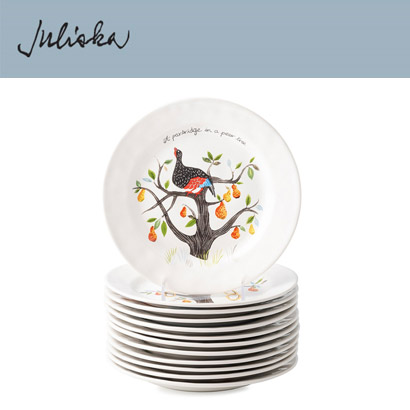 [해외][Juliska] 크리스마스 Twelve Days of Christmas Dessert/Salad Plate Set/12