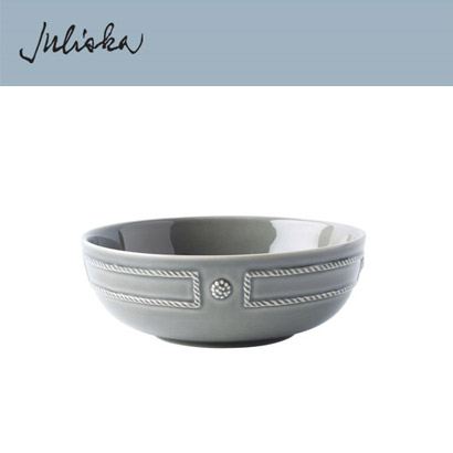 [해외][Juliska] Berry & Thread  French Panel Stone Grey  Coupe Pasta Bowl (4p)