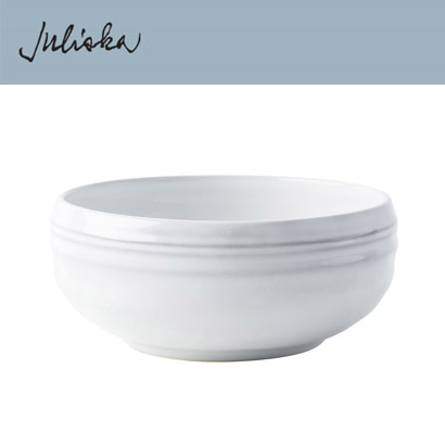 [해외][Juliska] Bilbao White Truffle  Cereal/Ice Cream Bowl (4p)