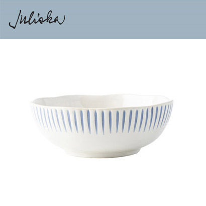 [해외][Juliska] Sitio Stripe Indigo  Coupe Bowl