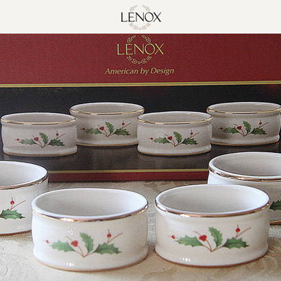 [해외][Lenox] Holiday 냅킨링 (4pcs)