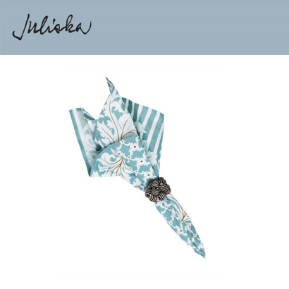 [해외][Juliska] 줄리스카 Acanthus Leaf Napkin Cool Blues (4pcs)